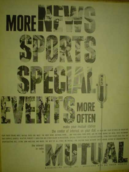 Radio Broadcasting System Inc. More news, sports, special events (1959)