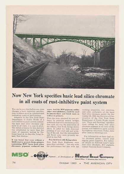 Albany NY Bridge National Lead Co M50 Pigment (1960)