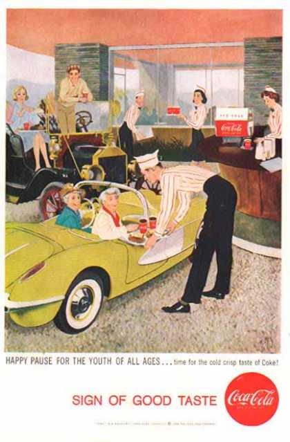 Coke – Sign of Good Taste – Drive In Soda Fountain (1958)