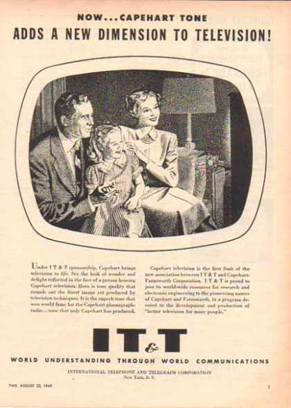 IT&T International Telephone & Telegraph – Capehart Television (1949)