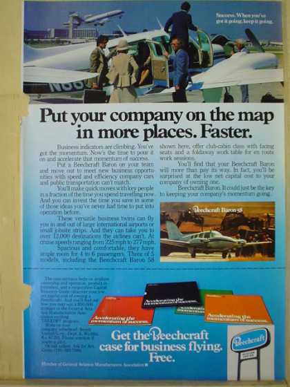 Beechcraft Airplanes Put your company name on the map faster (1977)