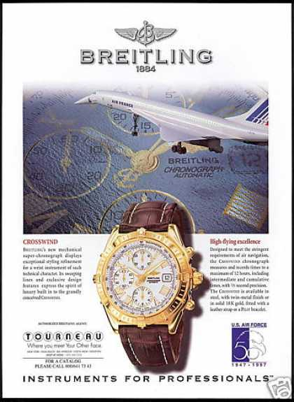 Air France Airlines SST Photo Breitling Watch (1998)