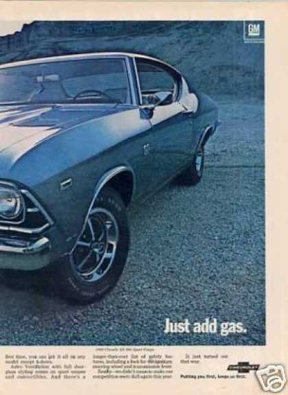 Chevrolet Chevelle Ss 396 Sport Coupe Ad 2 Page (1969)