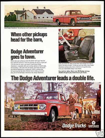 Dodge Adventurer Pickup Truck 3 Photo Views (1968)