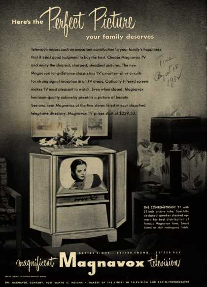 Magnavox Company's Television – Here's the Perfect Picture your family deserves (1952)