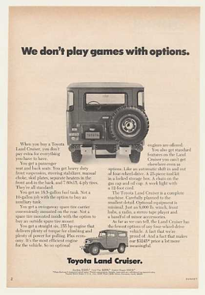 Toyota Land Cruiser Don't Play Games Options (1971)