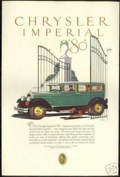 Chrysler Imperial 80 Chauffeur Terrier Art (1927)