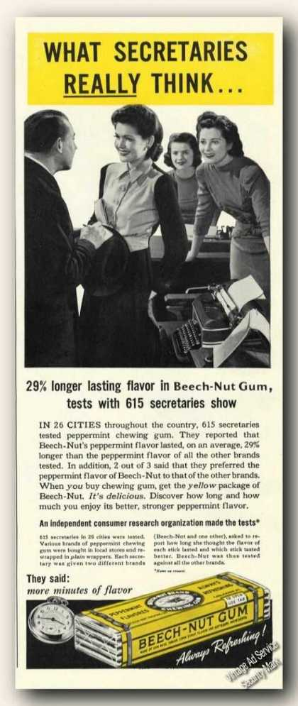 Beech-nut Gum What Secretaries Really Think (1941)