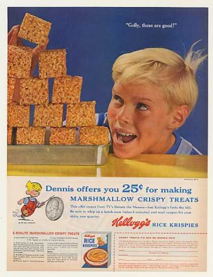 '60 Dennis the Menace Kellogg's Rice Krispies Treats (1960)