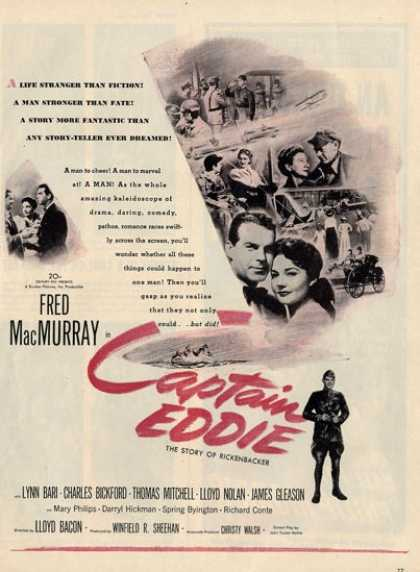 Movie Captain Eddie Fed Macmurray Ad T (1945)