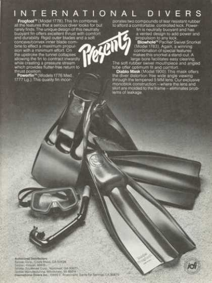 Idi Frogfoot Powerfin Blowhole Scuba Ad T (1978)