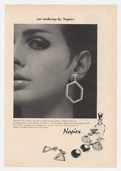 Napier Ear Makeup Hexagon Triangle Earrings (1966)