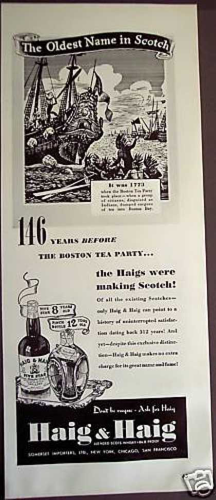 Haig & Haig Scotch Boston Tea Party (1939)