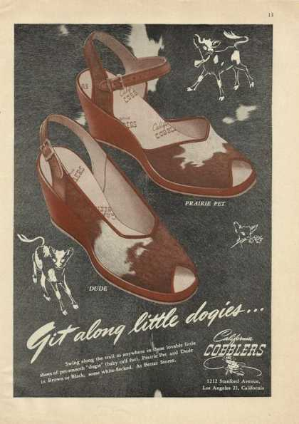 California Cobblers Womens Shoes (1946)