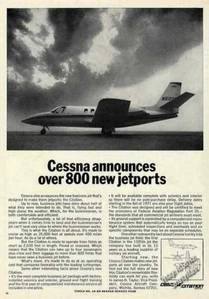 Cessna Citation Photo Short 2500' Fields (1970)