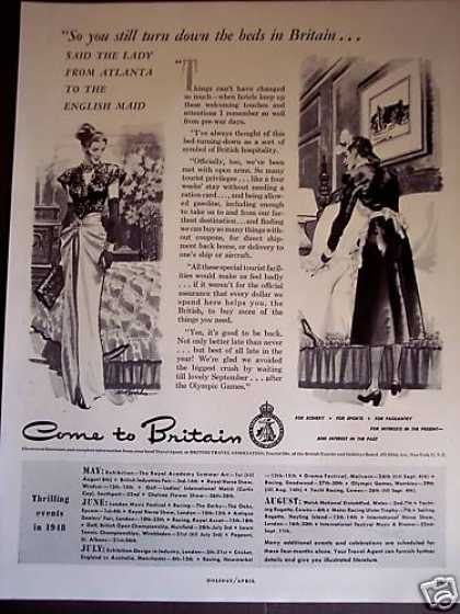 Come To Britain Travel Tourism Original (1948)