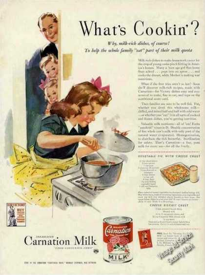 Carnation Milk Art (1943)