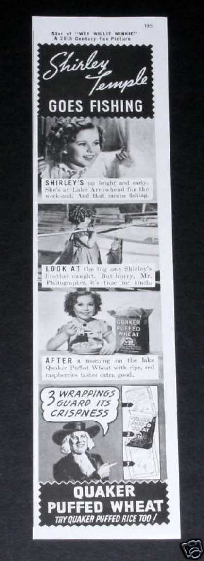 Quaker Cereal, Shirley Temple (1937)