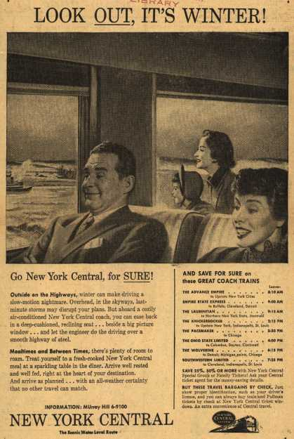 New York Central System's all weather trains – Look Out, It's Winter (1954)