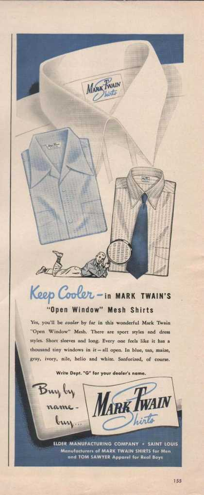 Mark Twain Mens Dress Shirt (1949)