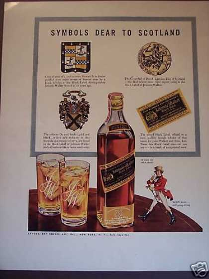 Symbols Dear To Scotland Johnnie Walker Scotch (1941)
