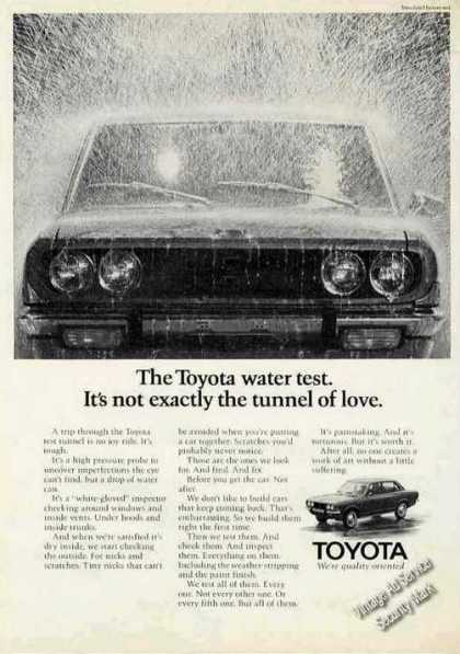 "Toyota Water Test Photo ""Not Tunnel of Love"" (1971)"