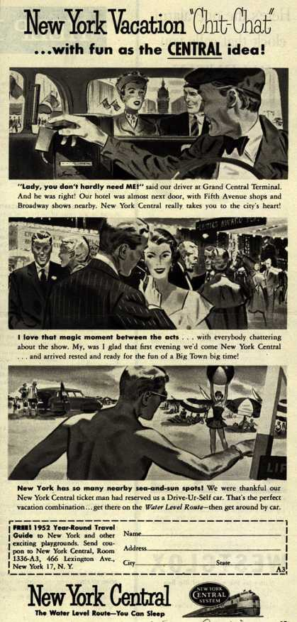 "New York Central System's New York – New York Vacation ""Chit-Chat""...with fun as the Central idea (1952)"