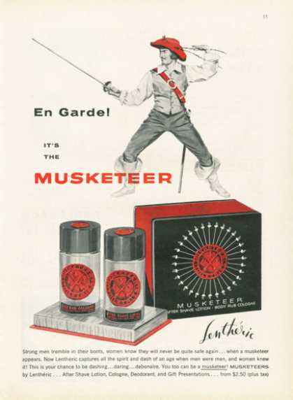 Lentheric Musketeer Shave Lotion Cologne (1955)