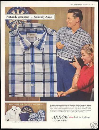 Arrow Fashion Shirt Dartboard Darts Photo (1957)