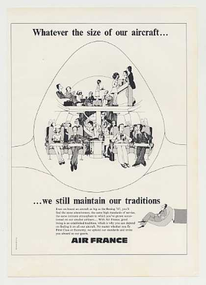 Air France Airlines Aircraft Size Traditions (1975)
