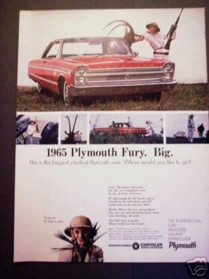 Original Plymouth Fury for 1965 Car Photo (1964)