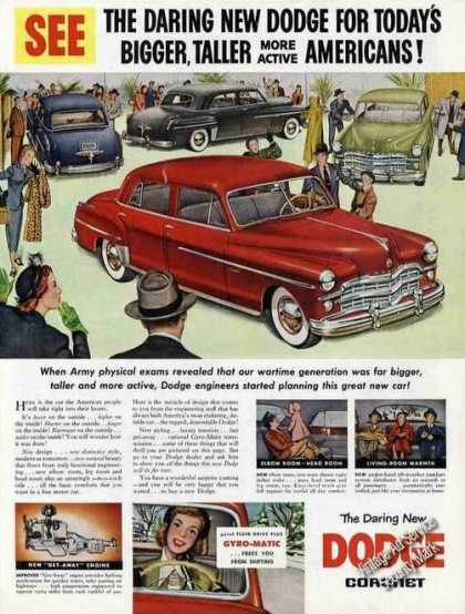 Dodge for Bigger, Taller More Active Americans (1949)