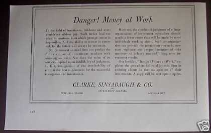 Clarke Sinsabaugh & Co Ny Investments (1939)
