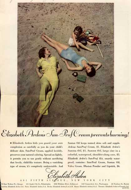 Elizabeth Arden's Sun-Pruf Cream – Elizabeth Arden's Sun-Pruf Cream prevents burning (1935)