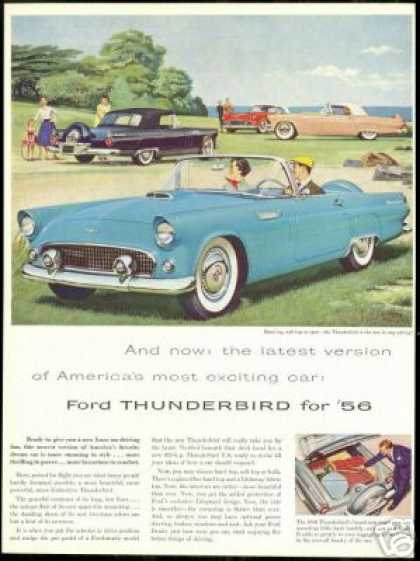 Beautiful Ford Thunderbird 4 Car Vintage (1956)