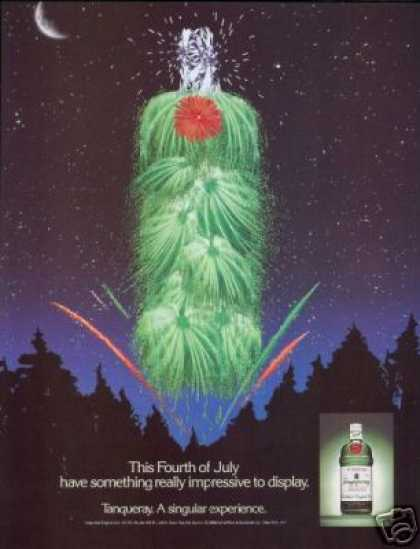 Tanqueray Gin Bottle July 4th Fireworks (1988)