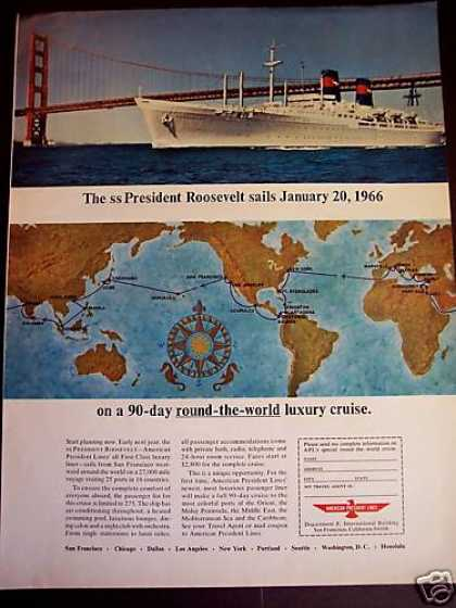 Ss Presidend Roosevelt Cruise Round the World (1965)