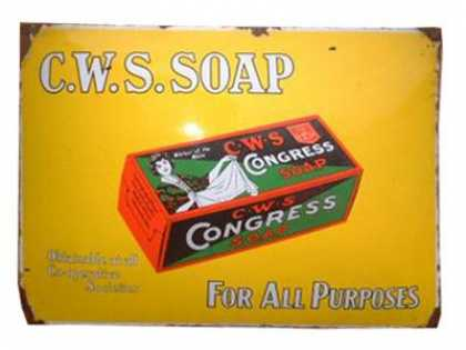 C. W. S Congress Soap Sign