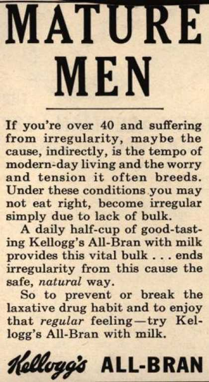 Kellogg's Co.'s Kellogg's All-Bran – Mature Men (1958)