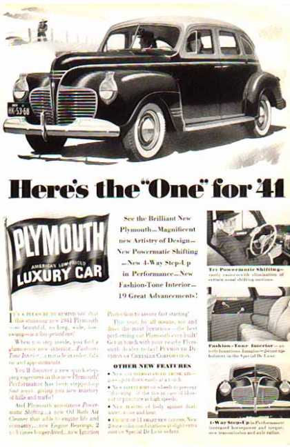 Plymouth Car – Low Priced Luxury Car (1941)