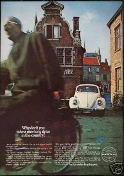 Pan Am Airlines VW Volkswagen Bug Europe (1969)