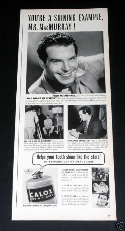 Old , Calox, Fred Macmurray (1941)