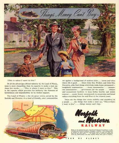 Norfolk and Western Railway – Things Money Can't Buy - (1948)