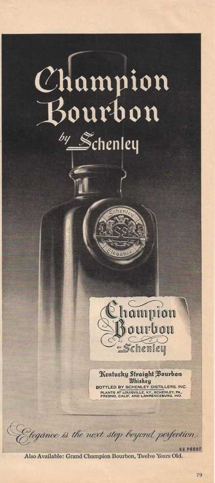 Champion Bourbon By Schenley (1957)