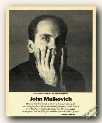 John Malkovich Picture Print Feature (1984)