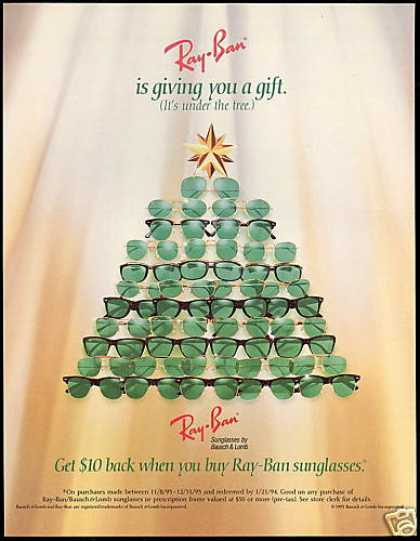 Asst Ray Ban Sunglasses Christmas Tree Theme (1993)