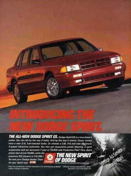 Dodge Spirit Es Collectible Car (1989)