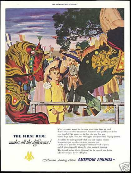 Carousel Horse Merry Go Round American Airlines (1950)