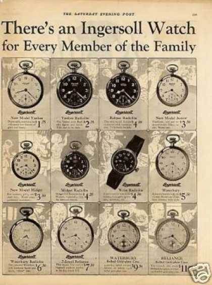 Ingersoll Pocket Watches (1925)