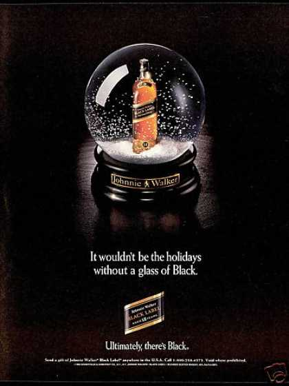 Snow Globe Photo Johnnie Walker BL Scotch (1993)